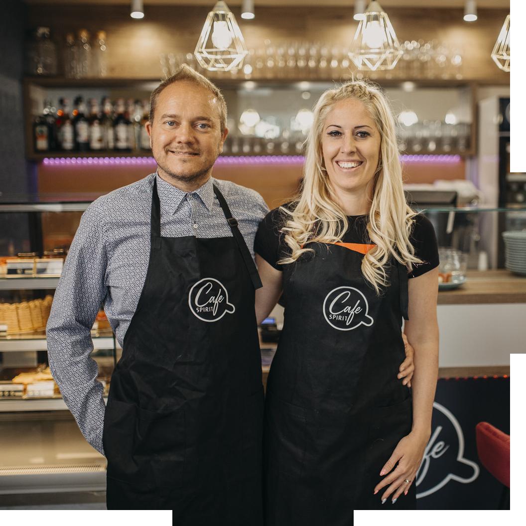 Cafe Spirit Siófok - Anita és Szabolcs - mentes üzleti kávézó
